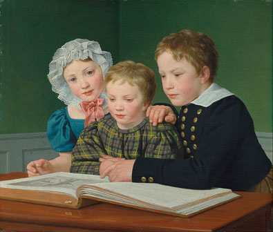 Portrait of C.F. Holms children guldalder